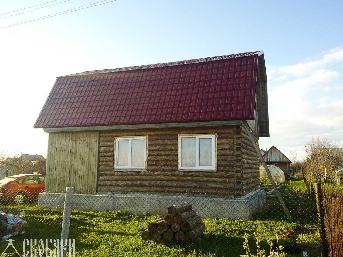 простой дом из сруба