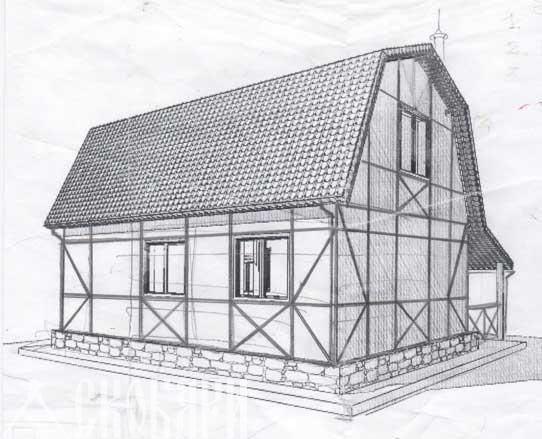 макет дома с фахвектом