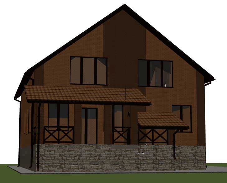 модель дома в Archicad