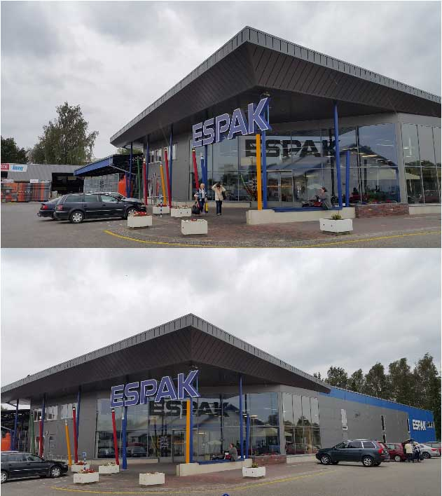 Строительный супермаркет Espak. Эстония