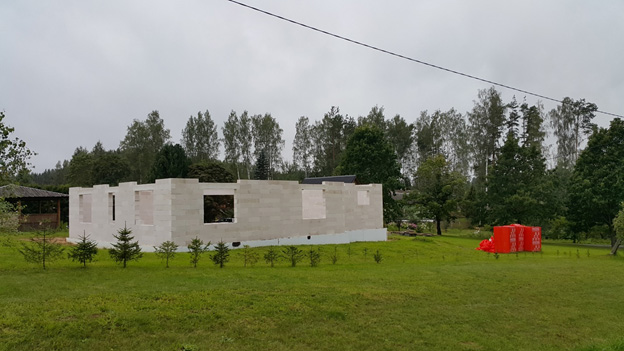 кладка из эстонского газобетона