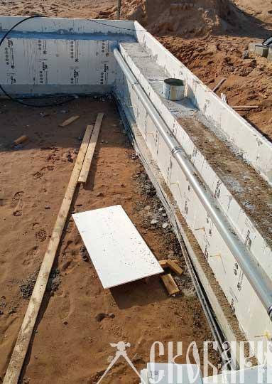 ливнёвая канализация встроенная в фундамент