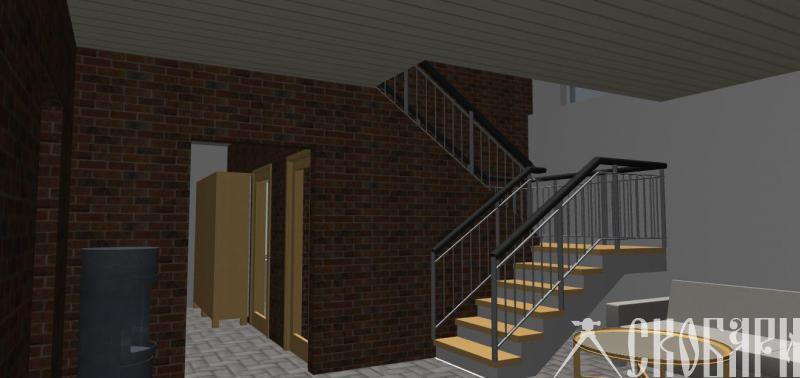 вид на лестницу и коридор